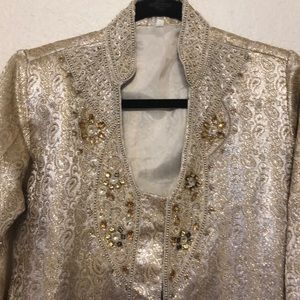 INDIAN / BOHO Gold Tunic Blazer/Top
